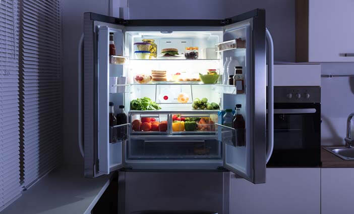 Open clean fridge