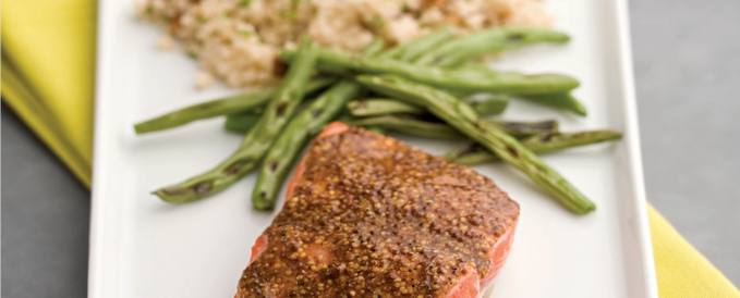 Smoky Mustard-Maple Salmon