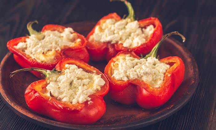 Stuffed Bellpepper with Mushrooms and Feta